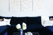 DIY Polka Dot Wall Art