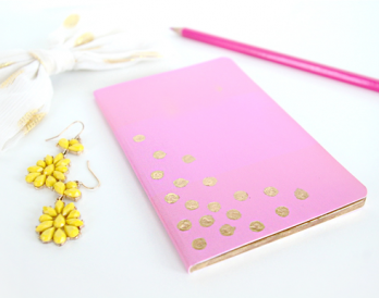 Polka Dot, Gold Leaf Journal