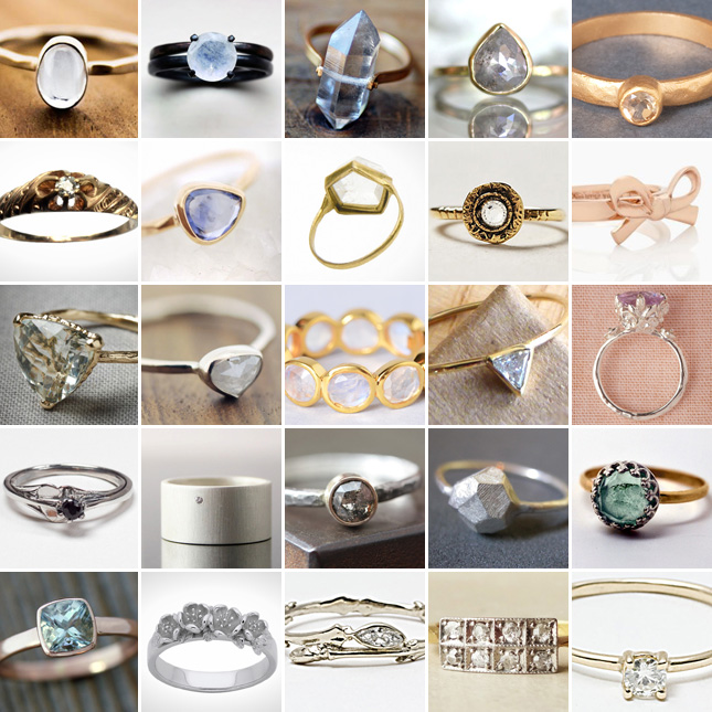 25 Unconventional Affordable Engagement Rings Brit Co