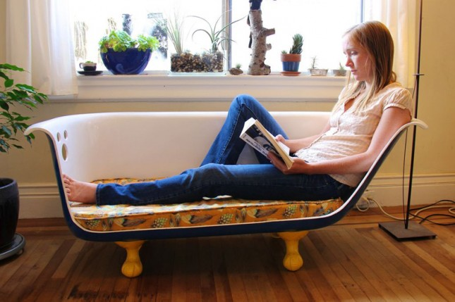 Home Made Couches diy clawfoot bathtub couch  home decoration