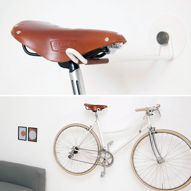 15 creative ways to hang up your bike brit co for Creative bike storage