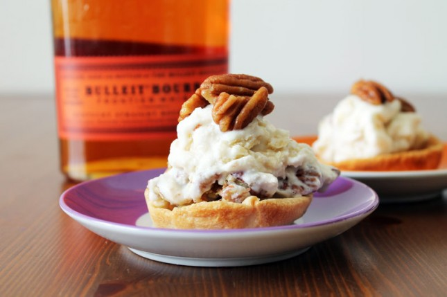Spike Your Sweets: Bourbon Pecan Pie Ice Cream | Brit + Co