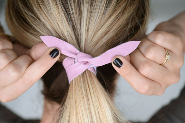 Leather Hair Tie  If throwing your hair up in a pony is part of your daily  morning routine 40cb9434498