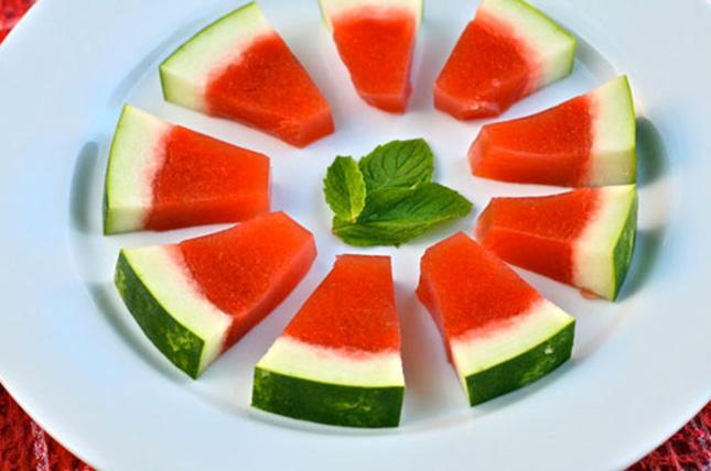Watermelon Mint Jello Shots