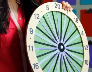 The Easiest Way to Make Your Own Dartboard