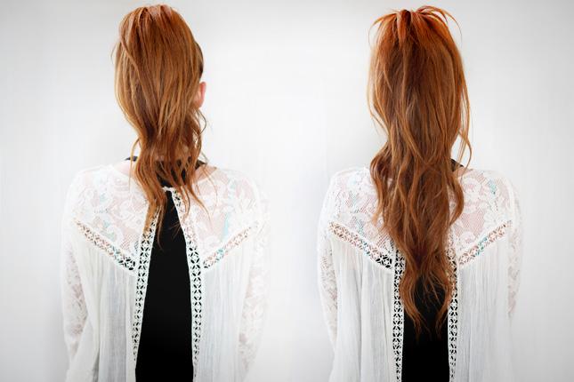 Как сделать короткие волосы длинным