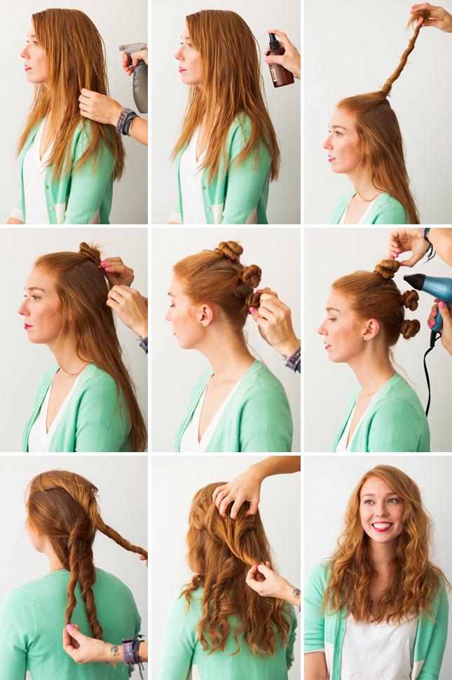 как сделать прическу на длинные волосы локоны