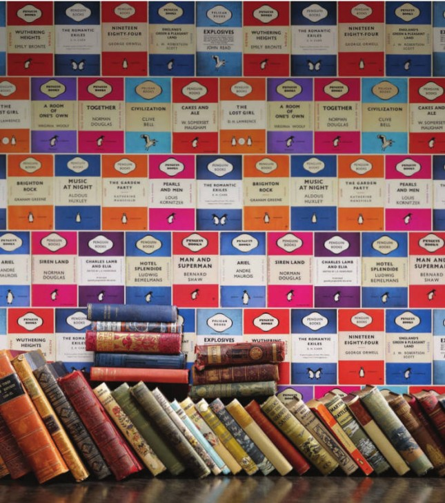 Penguin Book Cover Wall Art : Feeling bookish book inspired decor ideas brit co