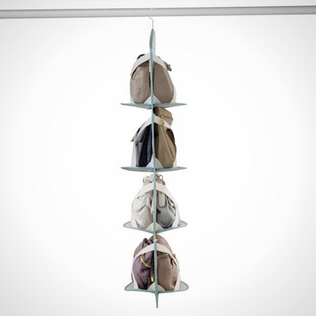 13 smart closet organizing ideas brit co - Handbag hanger for closet ...