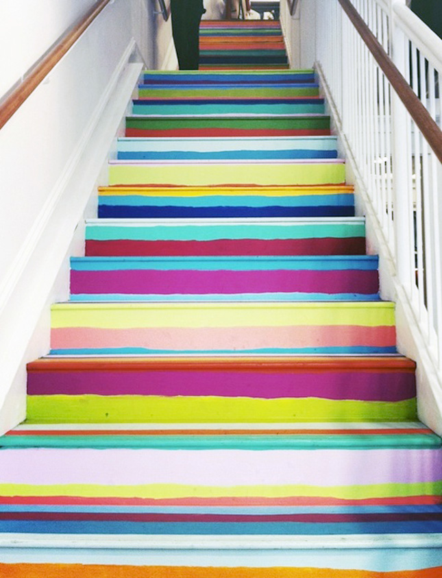 25 Brilliant Ways To Decorate Your Stairs Brit Co
