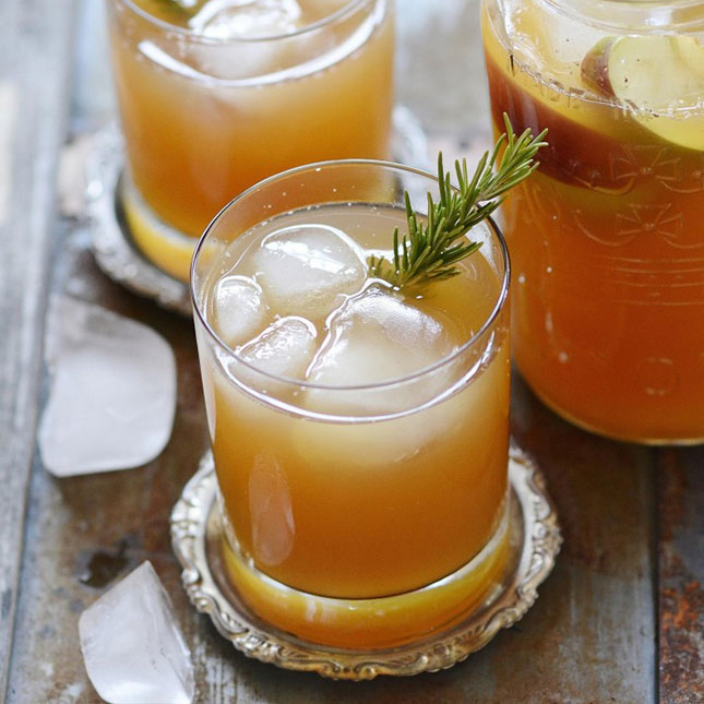 Bourbon Bomber : Apple cider, ginger, rosemary, allspice, and bourbon ...