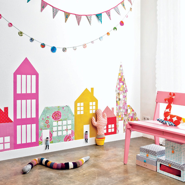 25 creative and modern nursery design ideas brit co - Room muur van de baby ...
