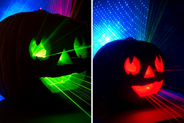 12 insanely cool tech inspired pumpkins brit co - Halloween laser light show ...
