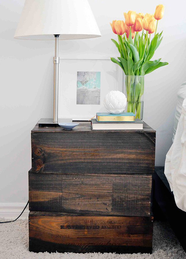 16 stylish nightstands to buy diy brit co for Diy small nightstand