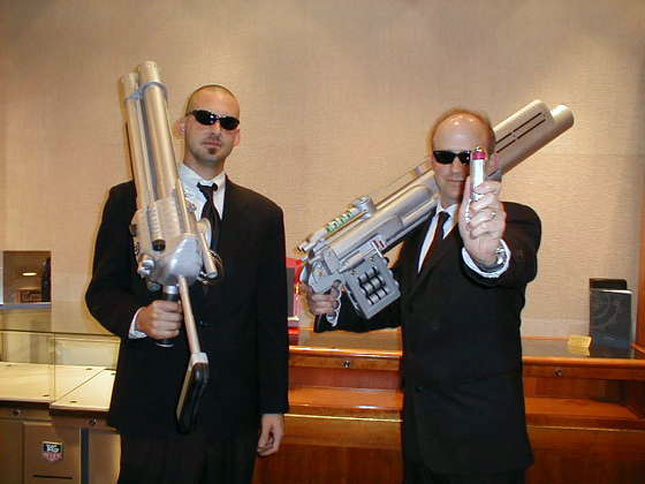 24. Men in Black : DIY cardboard weapons and stoic attitudes required.