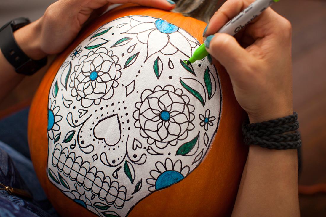 Free Dia De Los Muertos Pumpkin Carving
