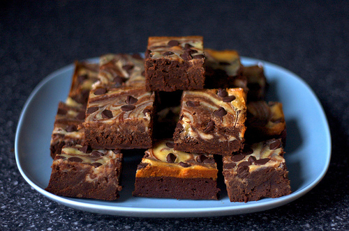 Marblicious! Cheesecake-Marbled Brownies | Brit + Co