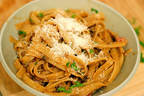 porcini mushrooms—steeped back to plumpness, of course—to a pasta ...