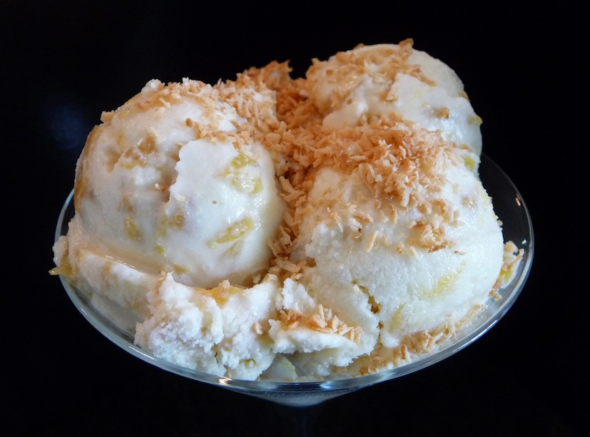 Rum-infused caramelized pineapple amps up this classic vanilla ice ...