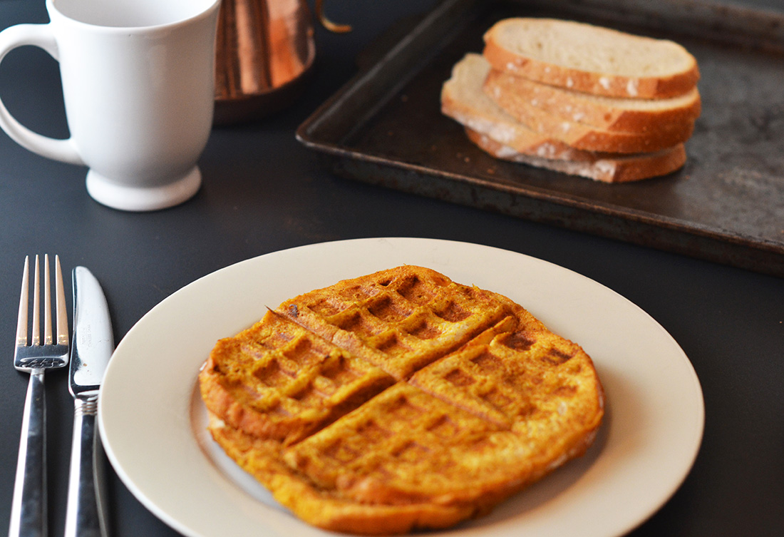 Treats In One: Pumpkin French Toast Waffles | Brit + Co