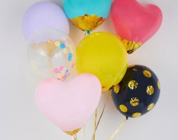 Balloons brit co for Confetti dipped balloons