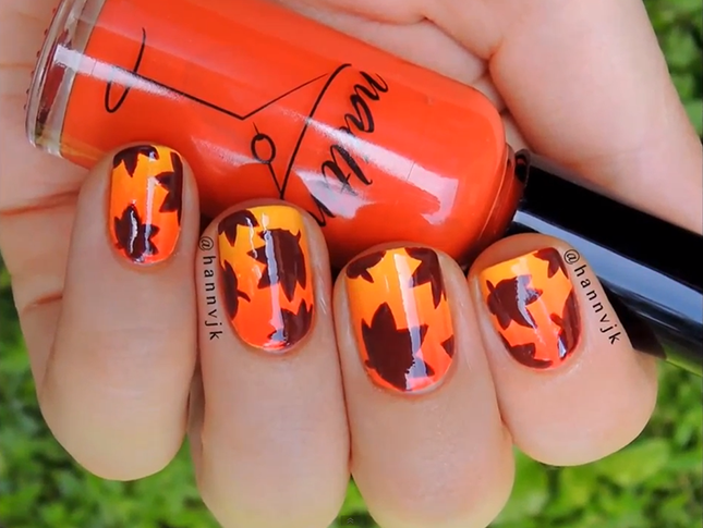 DIY Nail Art Ideas For Thanksgiving and Fall | Lips, Hips and Fashion
