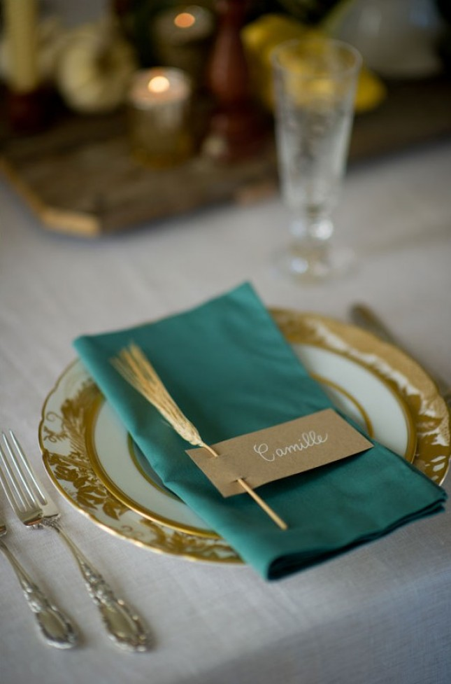 30 Quick And Easy Diy Place Cards For Your Thanksgiving