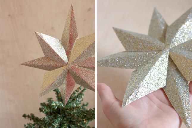 how to get glitter to stick to paper
