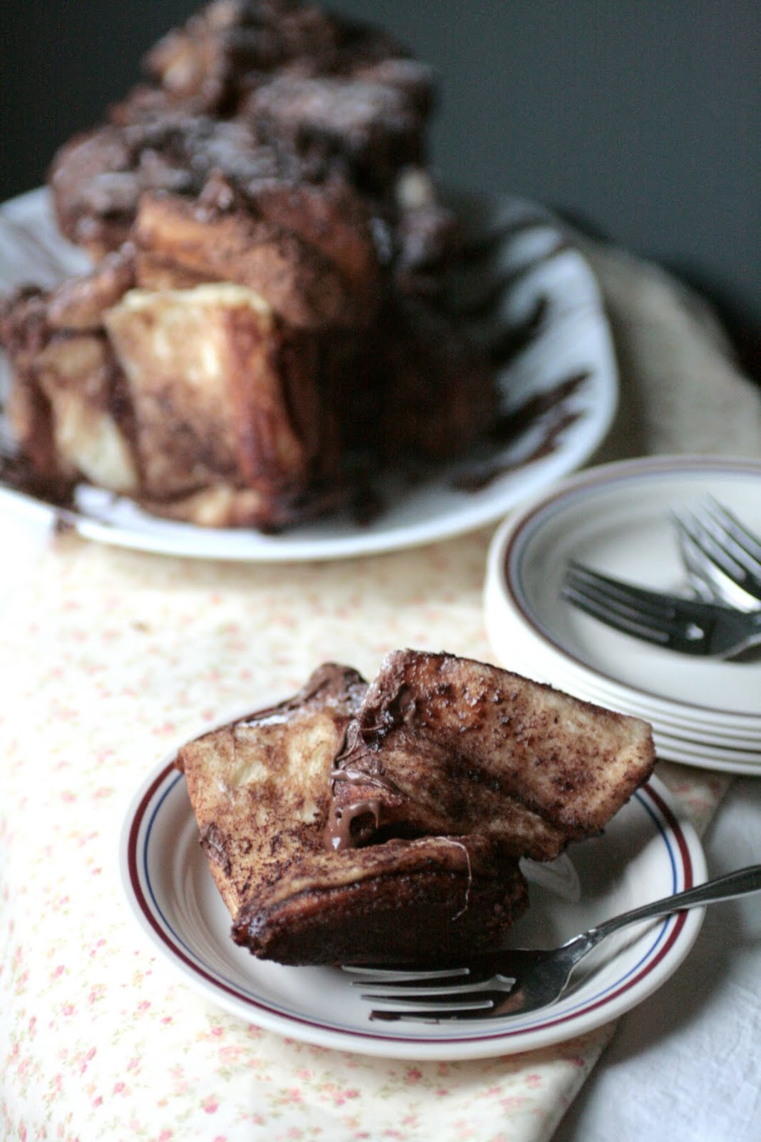 pull apart bread nutella and banana sandwich nutella banana pull apart ...