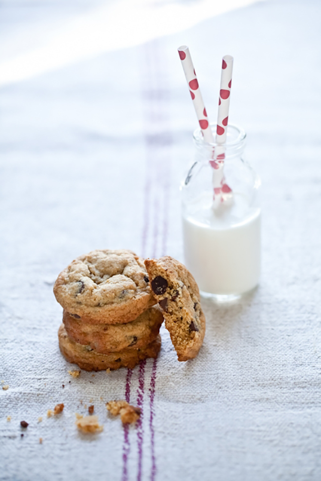 11. Chocolate Chip Cookies, Red Polka Dot Straws, and Milk These red ...