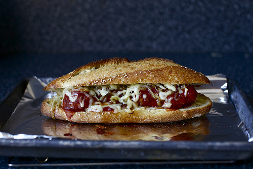 Meatball Subs With Caramelized Onions