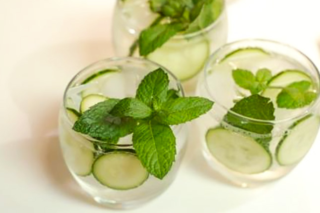 Cucumber, Mint, and Basil Mocktail | Brit + Co