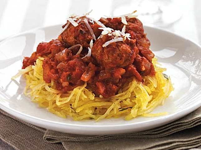 Meatless Meatball over Herbed Spaghetti Squash : For the vegetarian ...