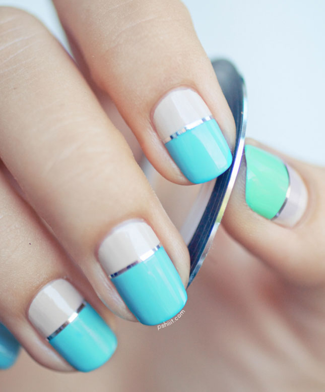 Concrete And Nail Polish Striped Nail Art: 14 Striped Nail Art Tutorials To Try Now
