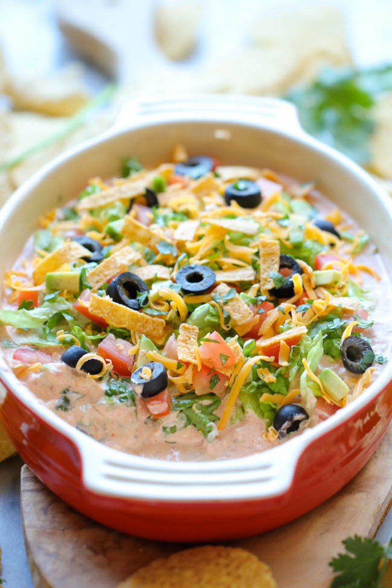 Skinny Taco Dip : No time to assemble a seven-layer dip? Whip up ...