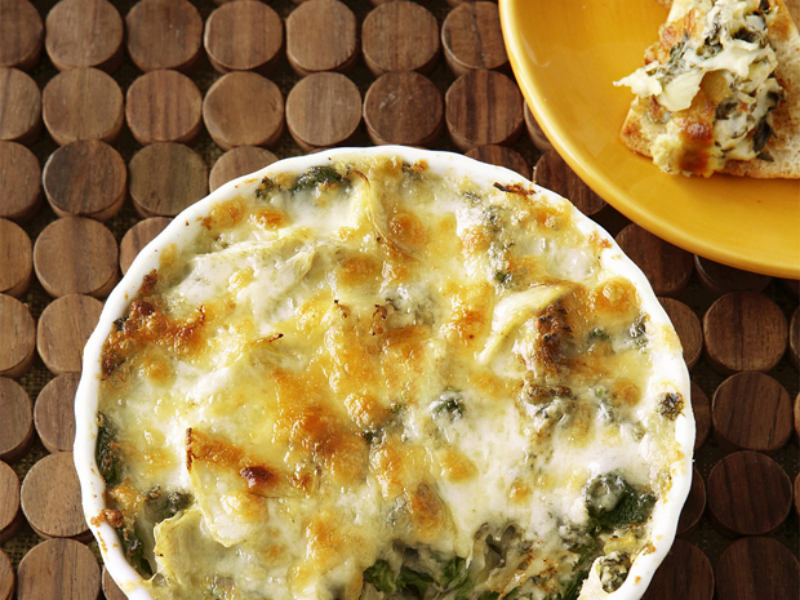 Hot Artichoke-Spinach Dip : Cannellini beans and Neufchatel cheese ...
