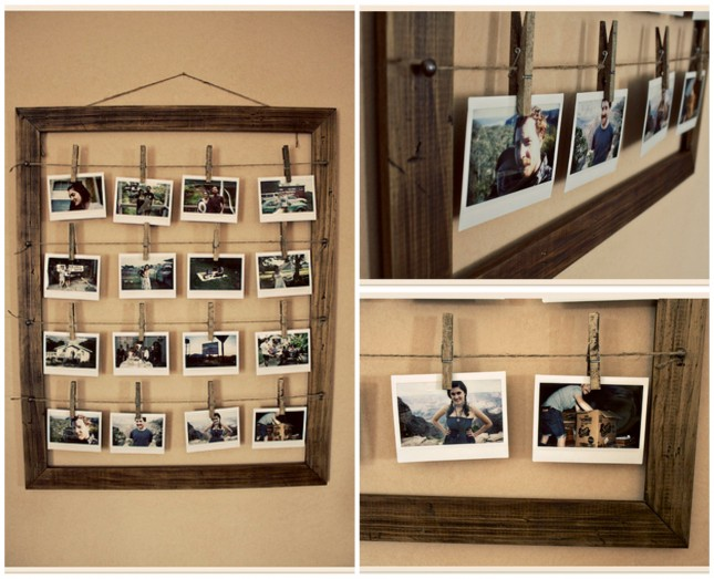 Frame With Clothespins. Top Diy Artistic Picture Frames Tutorials ...