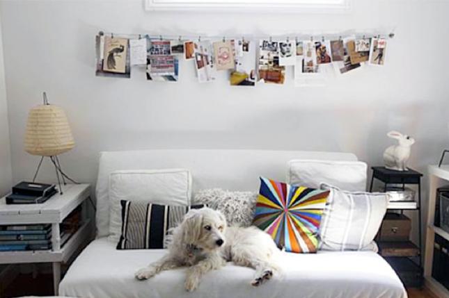20 idee creative per appendere le fotografie arredo idee - Tende a filo ikea ...