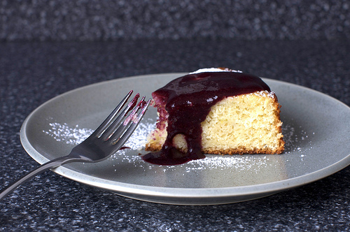 ... Flavor Combination? Lime Yogurt Cake With Blackberry Sauce | Brit + Co