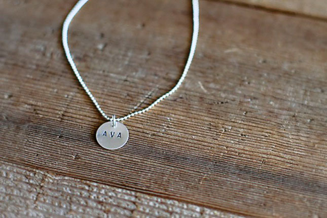 How to hand stamp jewelry like a pro brit co for How do you make hand stamped jewelry