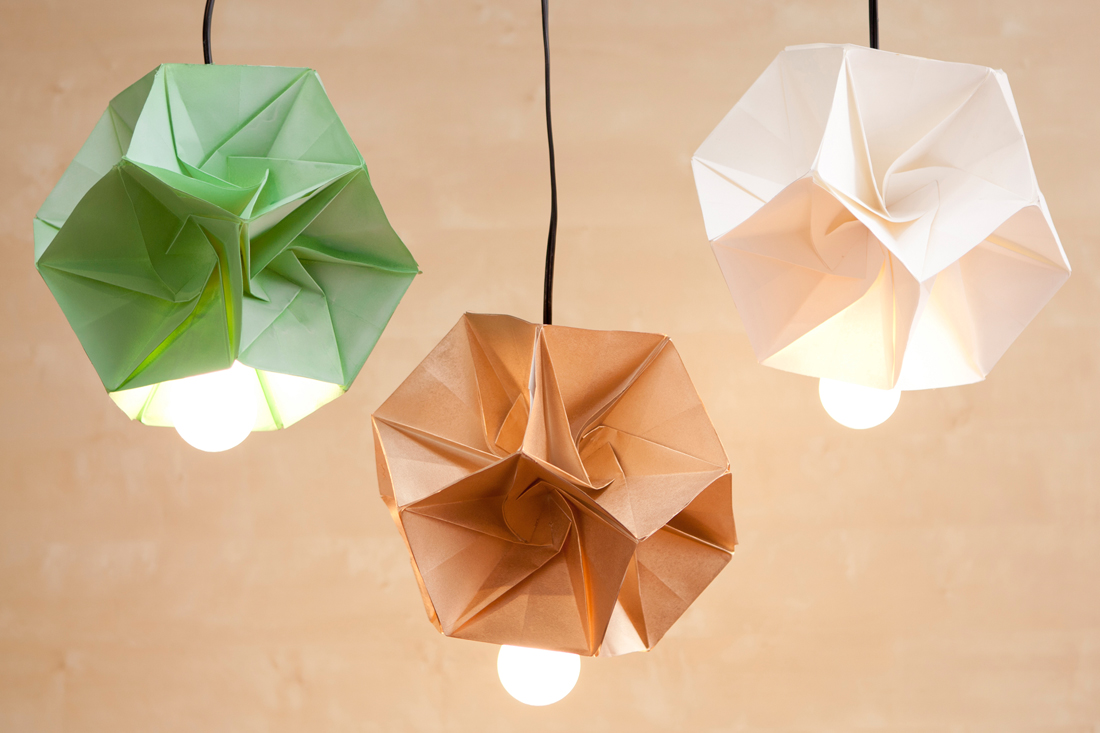 these diy origami lamp shades are our new obsession brit