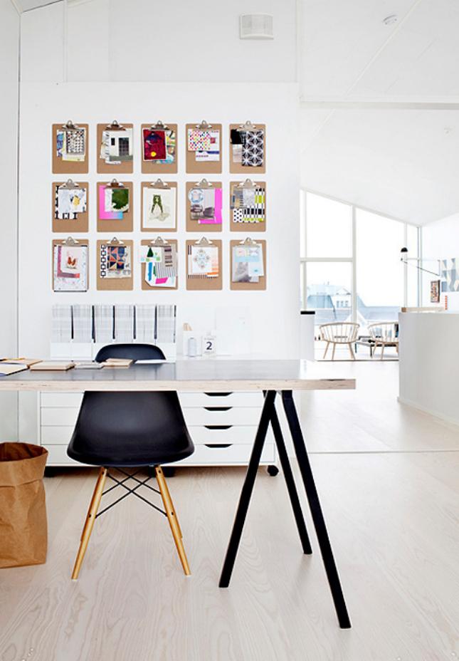 Desk paper scissors 44 office organization hacks brit - Pictures of organized office desks ...