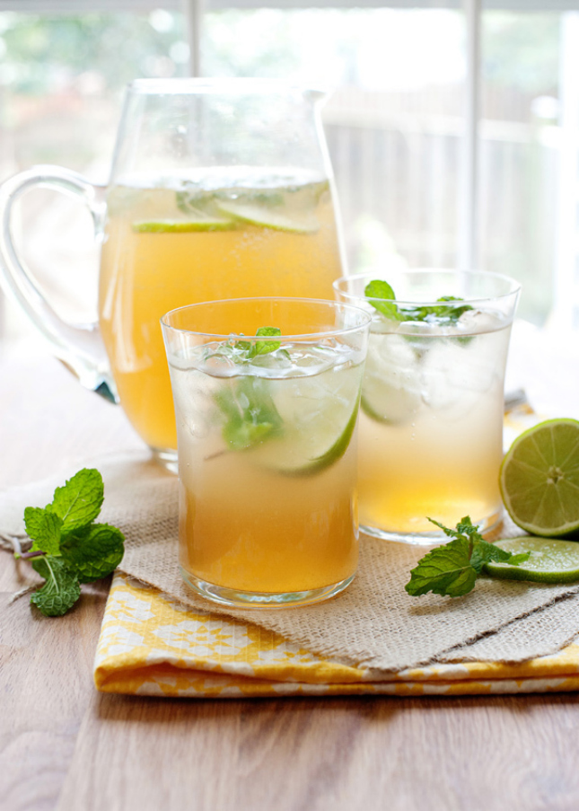 10. Mint Lime Tea Cooler : White tea, fresh mint and sparkling water ...