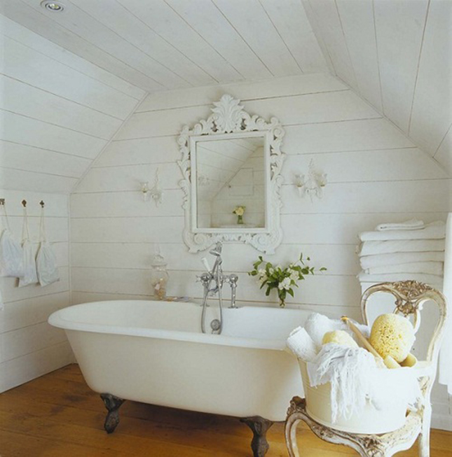 20 bathrooms we wouldn t mind sitting around in brit co - Rustic chic bathroom ...