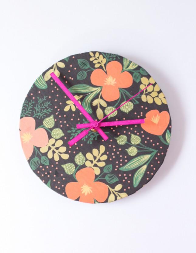 horloge en papier