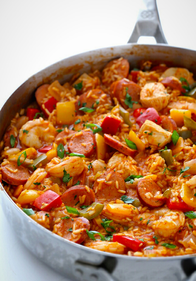 Grilled Chicken And Sausage Jambalaya Recipe — Dishmaps