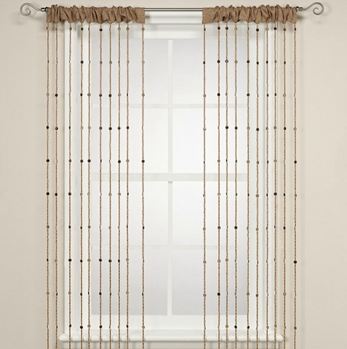 Island Bead Curtain Panel : Granted, A Curtain Comprised Sparingly . ...