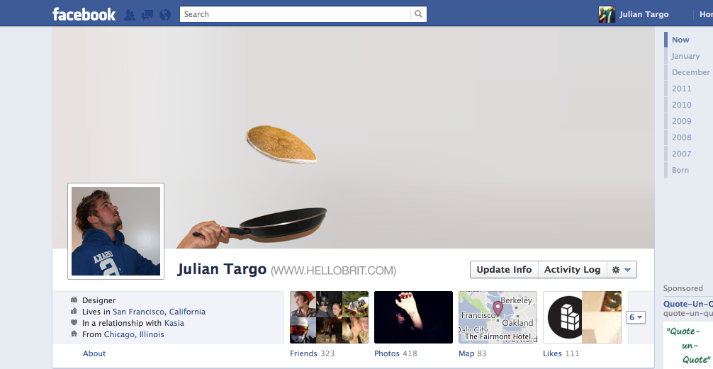 How To Hack Your Facebook Timeline Cover: Flipping Pancakes | Brit ...
