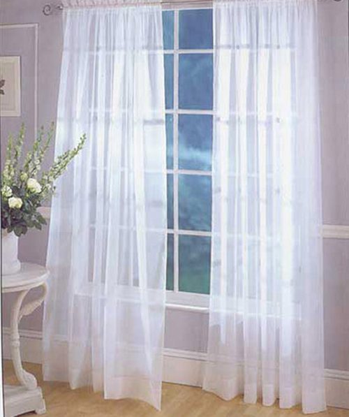 11. The Super Sheer Curtain Panel : And we do mean super sheer. If a ...