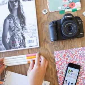 make over a desk with temporary wallpaper brit co. Black Bedroom Furniture Sets. Home Design Ideas